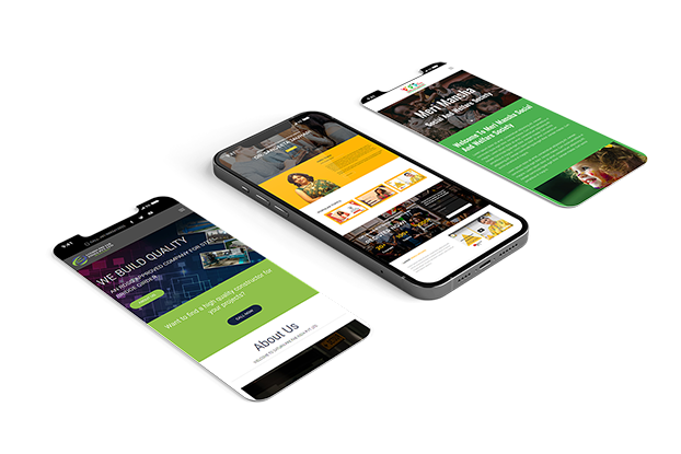 Ready to launch website mobile mock-up 2