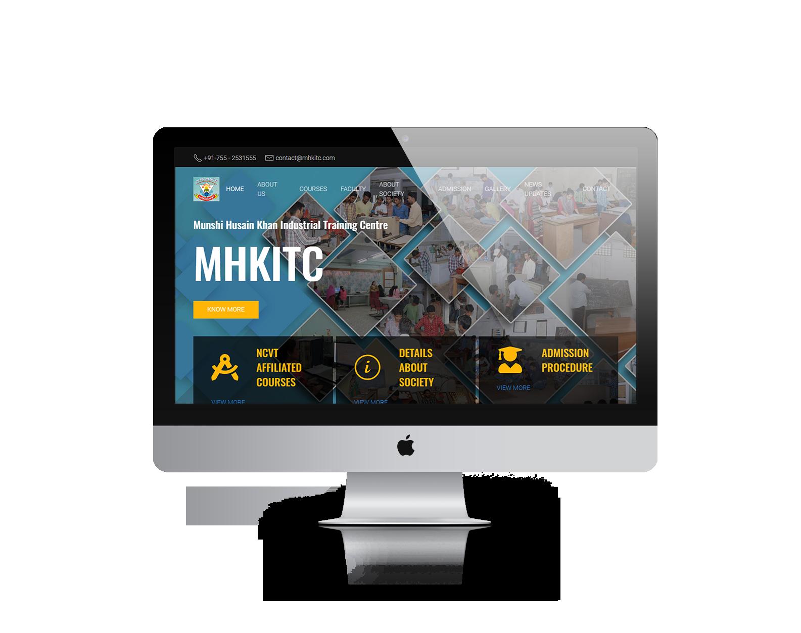 Ready to launch website desktop mock-up 1