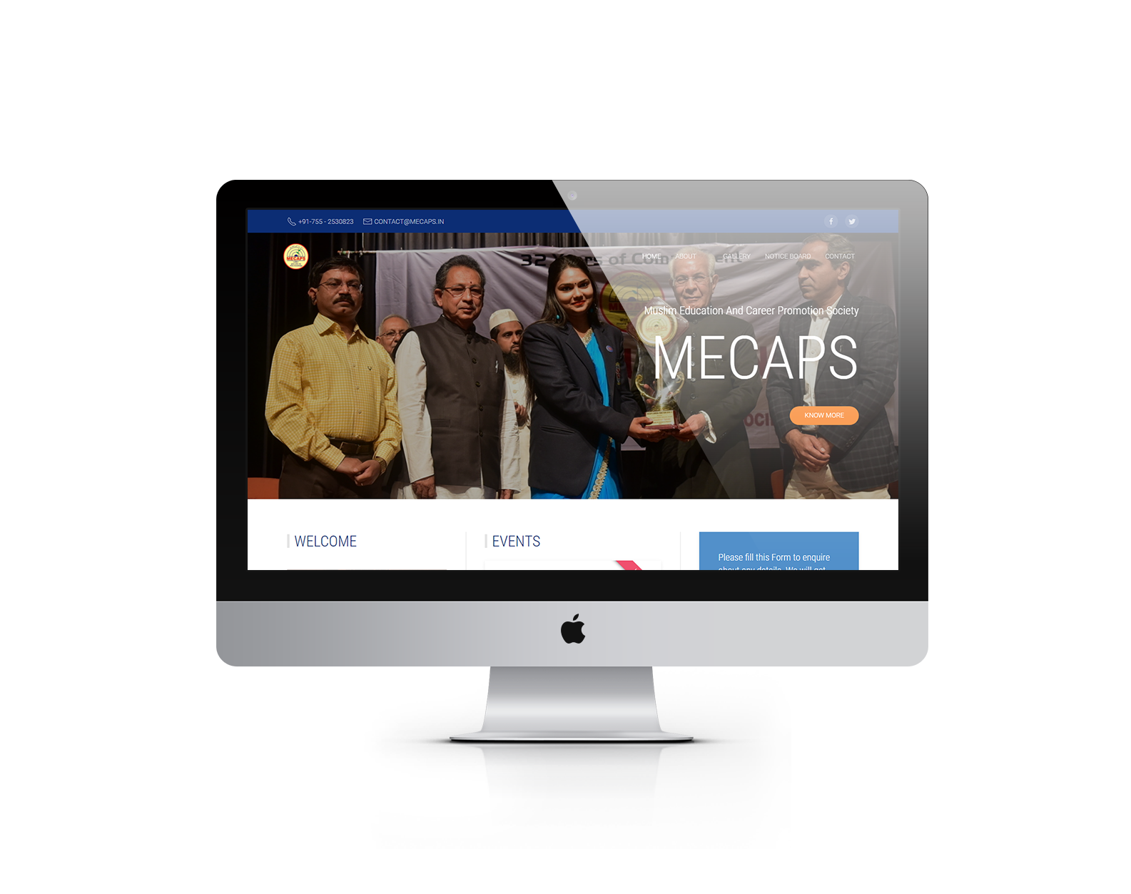 Ready to launch website desktop mock-up 2