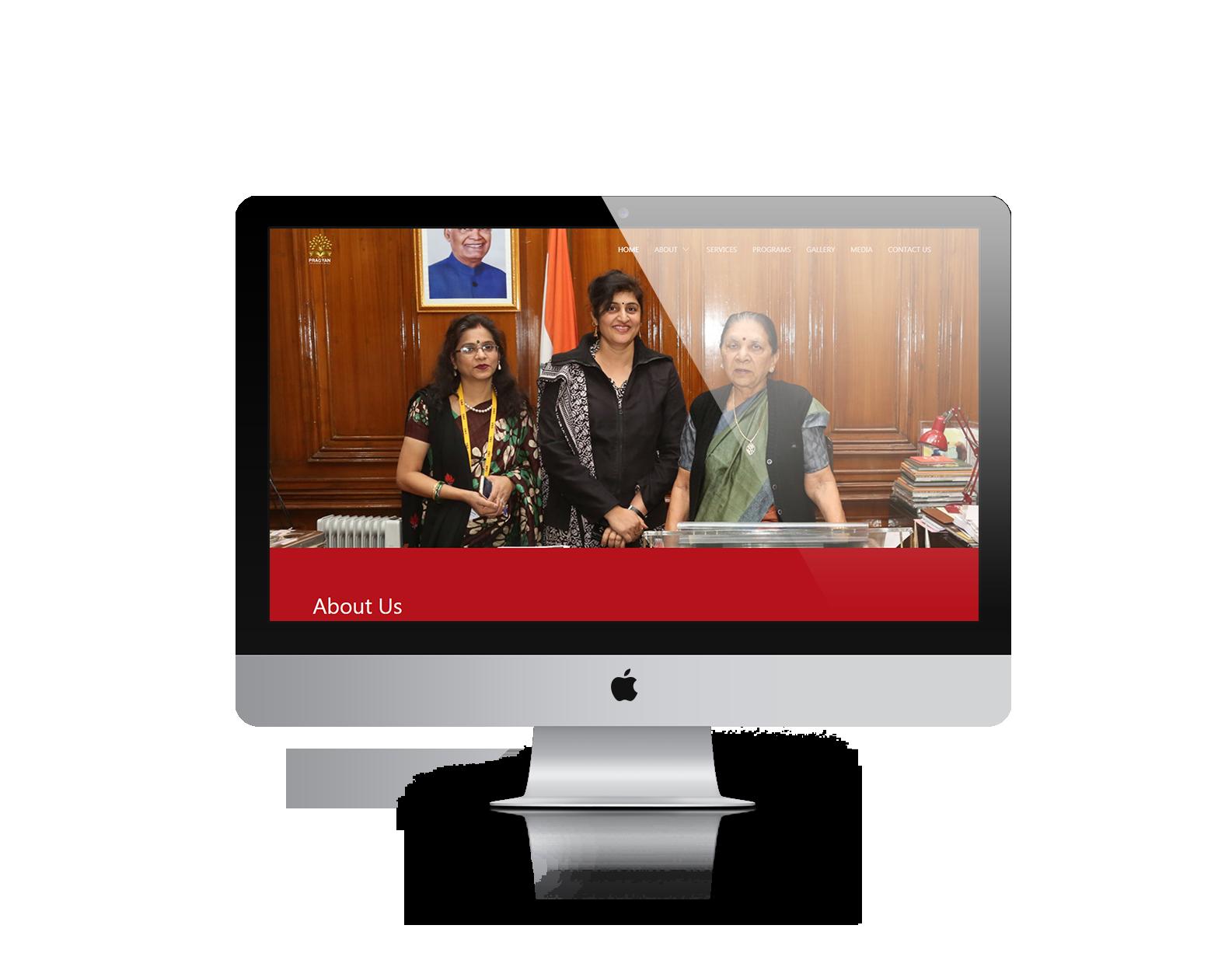 Ready to launch website desktop mock-up 3