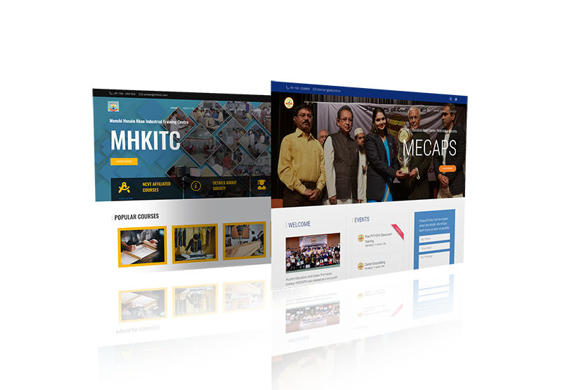 Website Design Mock-up 1 from sample site