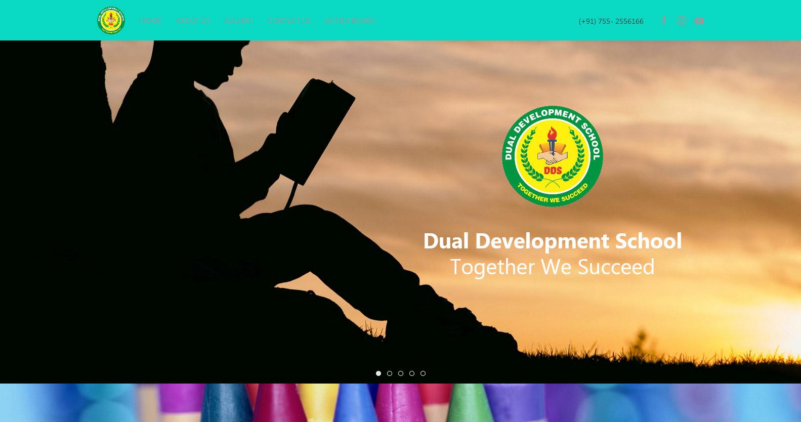 Screenshot from School Demo Website homepage