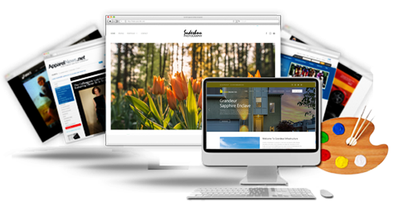 Dynamic website designs displaying at various devices
